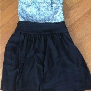 Express sequin and chiffon dress size 2